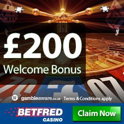 Betfred Casino No Deposit Bonus