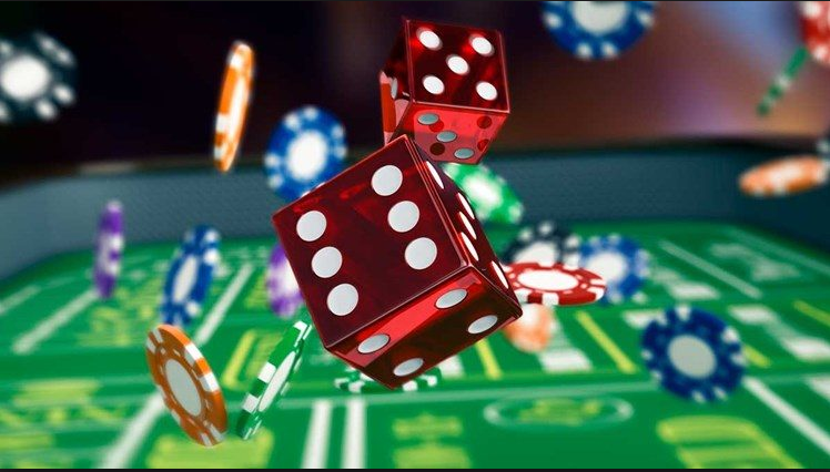 New Casino Dice And Chips Animation