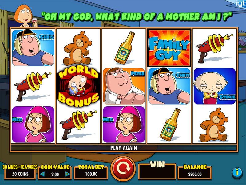 Family Guy Slot Gameplay Screenshot
