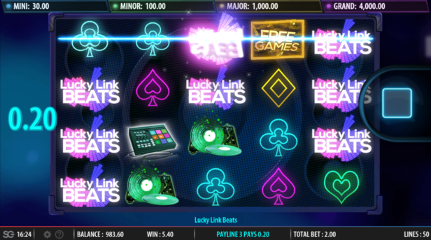 Lucky Link Beats slot by Bally