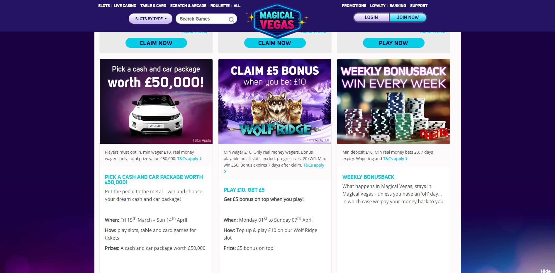 Magical Vegas Casino Bonuses