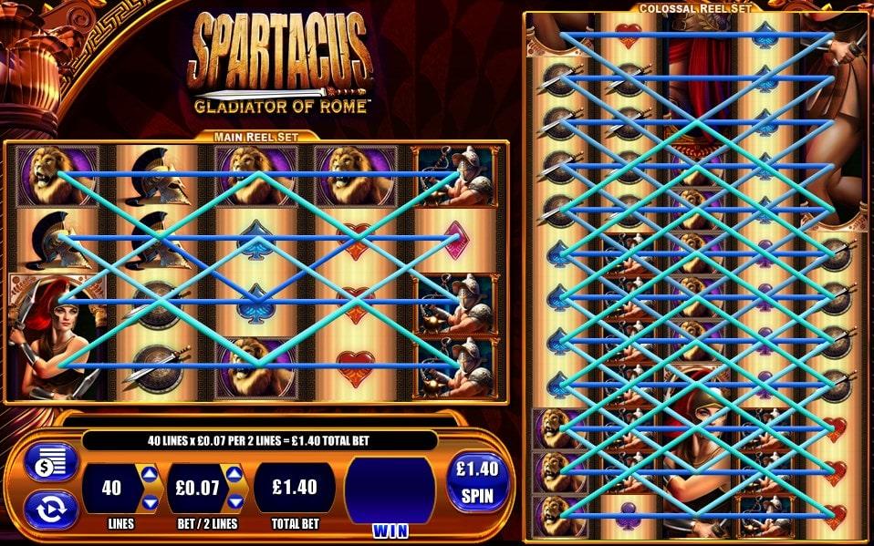 spartacus slot paylines wms