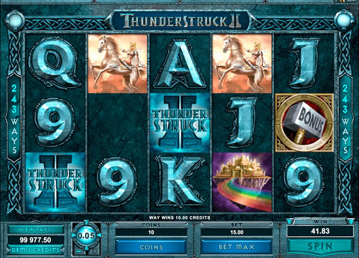thunderstruck II slot microgaming gameplay