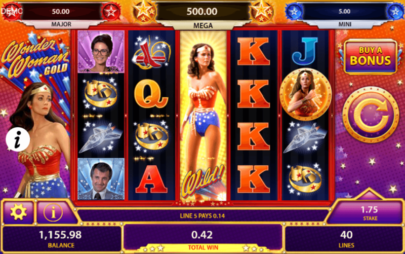 Wonder Woman Gold slot by Bally