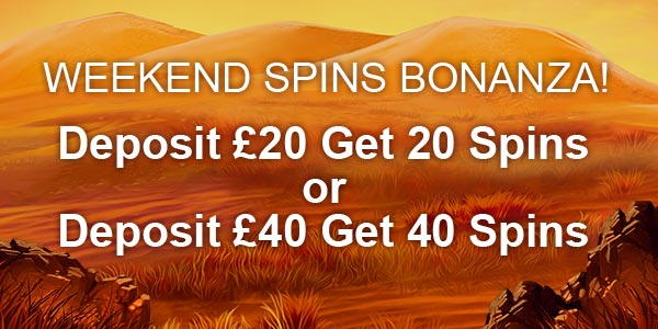 Weekend Spins Bonanza Nektan Promotion Advert