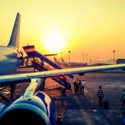 Aeroplane Wing Sunset